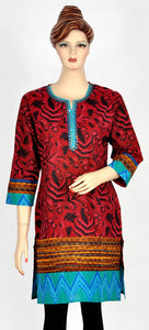 Beautiful Printed Maroon Kurti