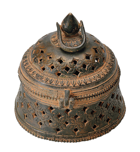 Antiquated Decorative Brass Box Rustic Finish