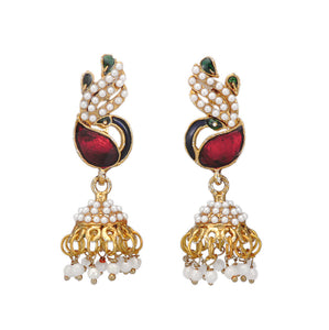 Peacock Inspired Traditional Jhumki Earring for Women