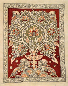 "Kalamkari Painting ""Symbol of Life Tree"" 4793"