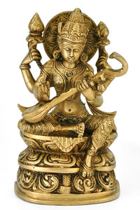 Goddess of Knowledge - Brass Statue