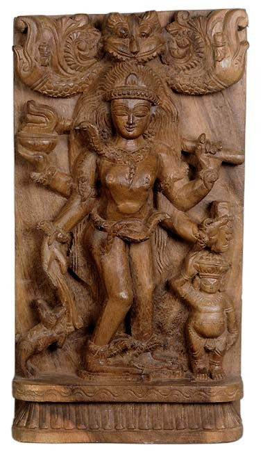 'Vatuka Bhairava' Bhairava as a Small Boy - Wood Carving