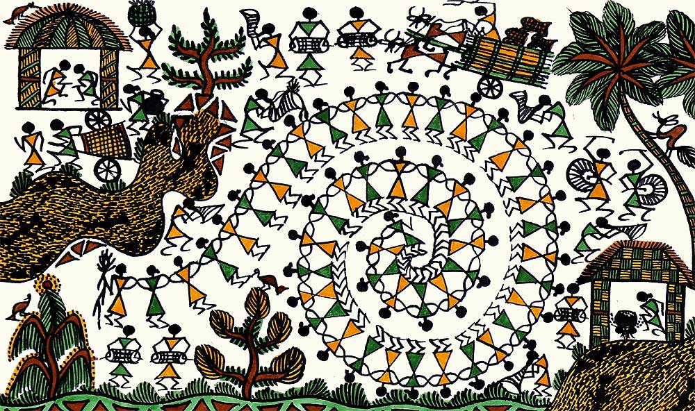Life of  Village Warli Painting