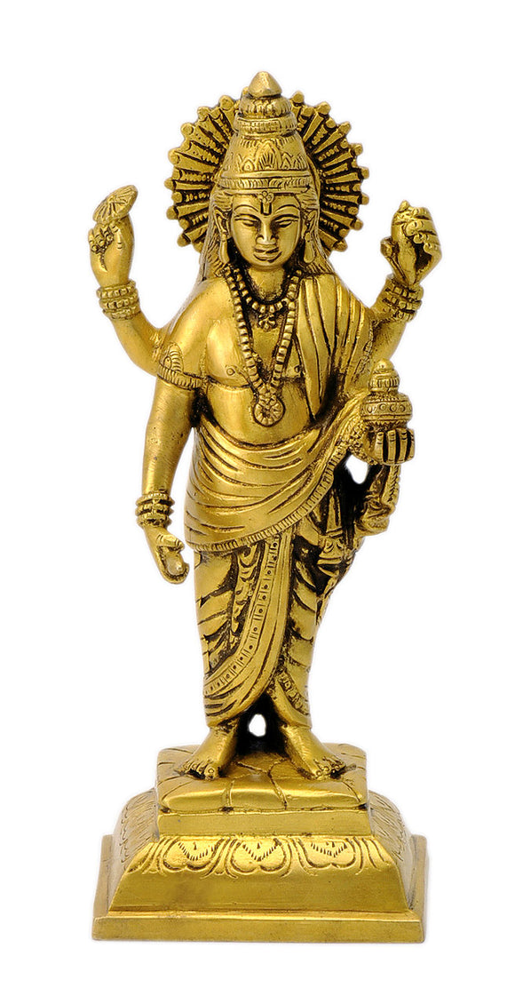 Dhanvantari The god of Ayurveda Brass Statue