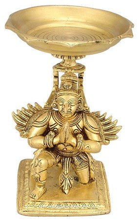 Garuda Lamp - Brass Statue  BS0161