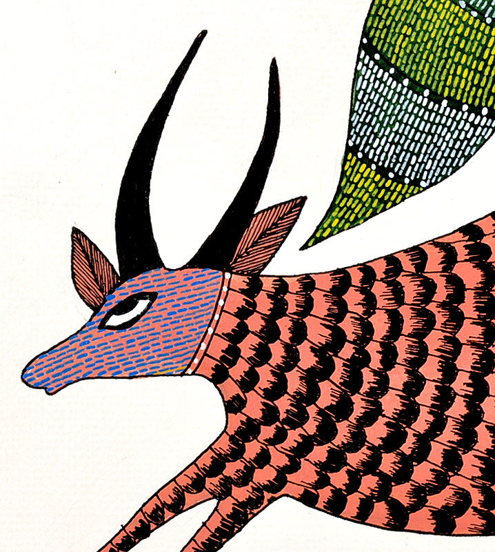 Bird & Cow Gond Panting