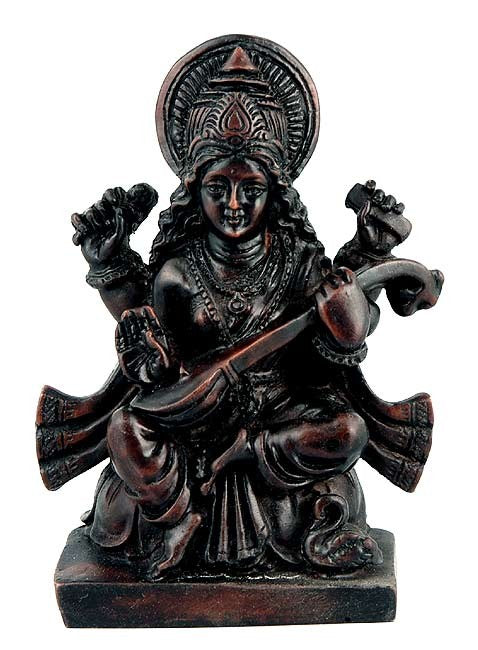 Gentle Mother Saraswati - Resin Statuette
