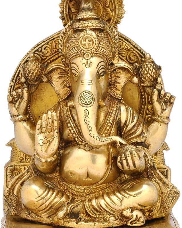 Shubh Ganpati - Brass Sculpture