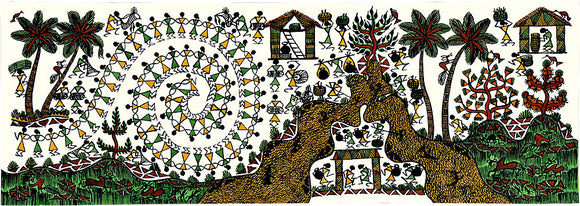 Tribal Village Warli Painting