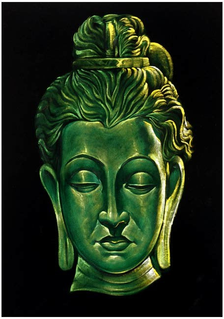 The Great Buddha - Velvet Painting