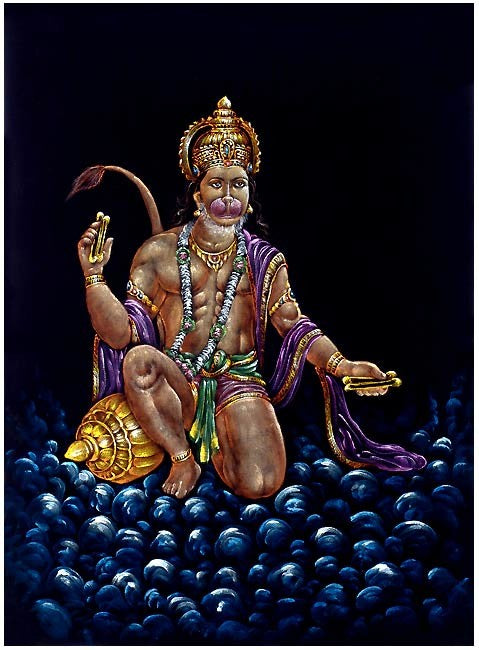 Devotee of Ram - Beautiful Hanuman Painting