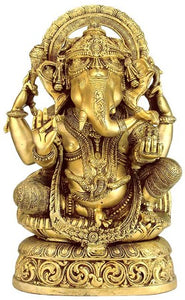 """Lord Vignesh"" - Brass Sculpture BS0187"