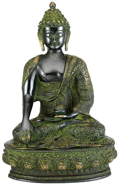 Buddha - Oxidized Brass Sculpture BS0011