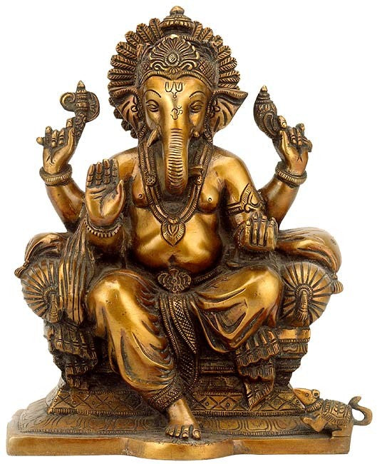 Ganpati  - Brass Sculpture BS0037