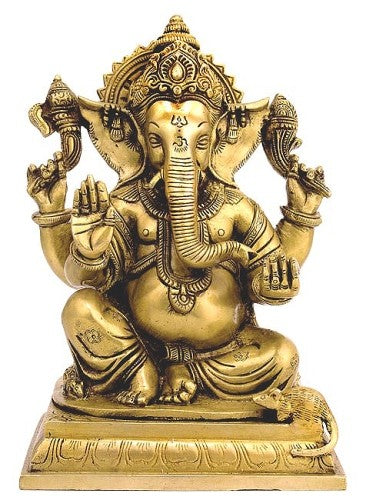 lord Ganesha Brass Statuette BS0213