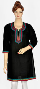 Black Kurti with Beauty full Embroidery