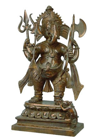 Ganesha The Spiritual Warrior-Large Brass Statue