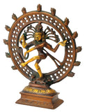 God Nataraj  Golden Brown Finish Brass Statue