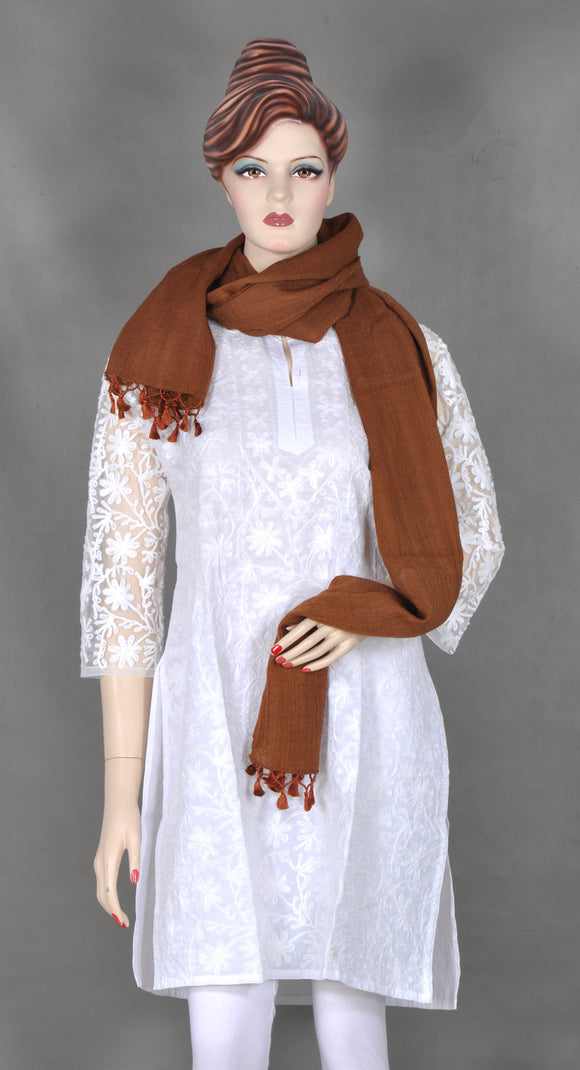 Brown Wool Stole