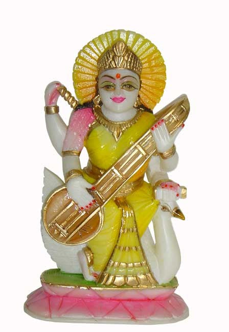 Saraswati on Swan-Indian Goddess