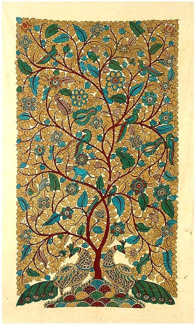 Tree of Life - Large Cotton Kalamkari Painting