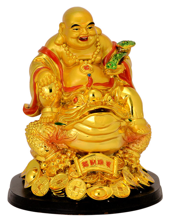 Laughing Buddha Seated on Money Frog