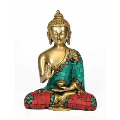 God Medicine Buddha Brass Sculpture