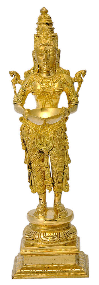 Beautiful Deepa Lakshmi Brass Sculpture