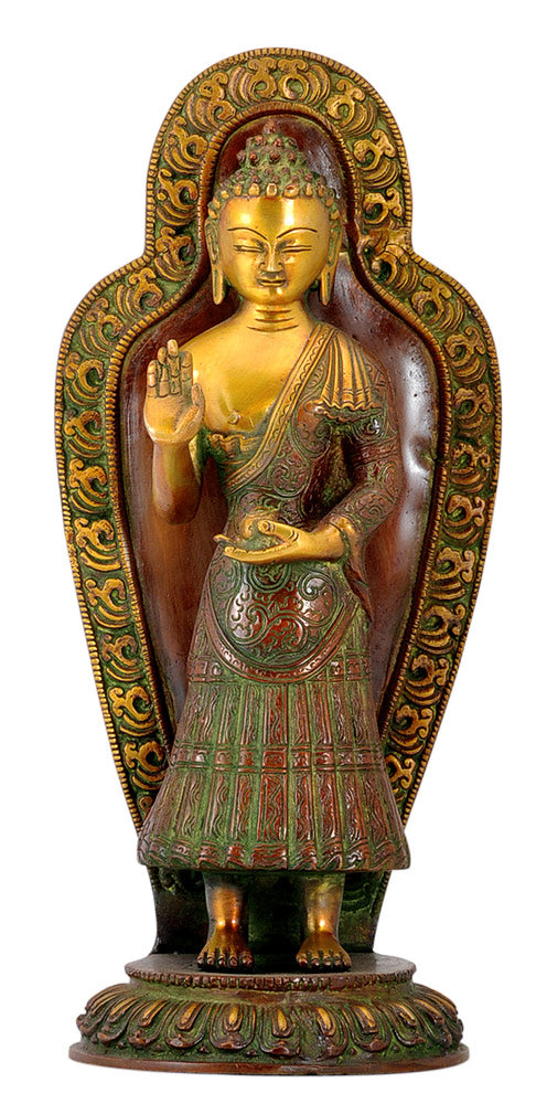 Apostle of Peace Lord Buddha - Brass Statue