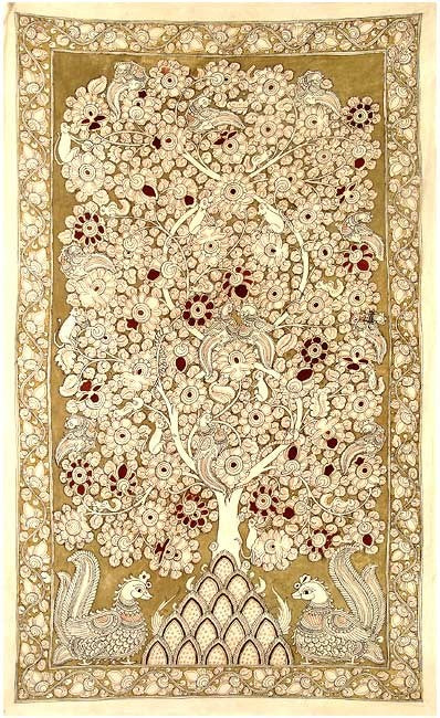 Indian Tree of Life - Kalamkari Painting