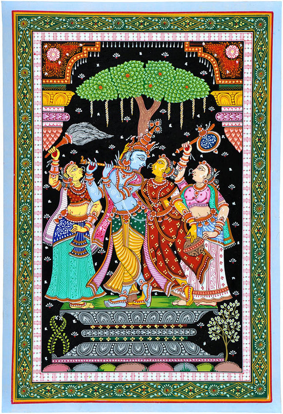 Radha Krishna - Patachitra Painting