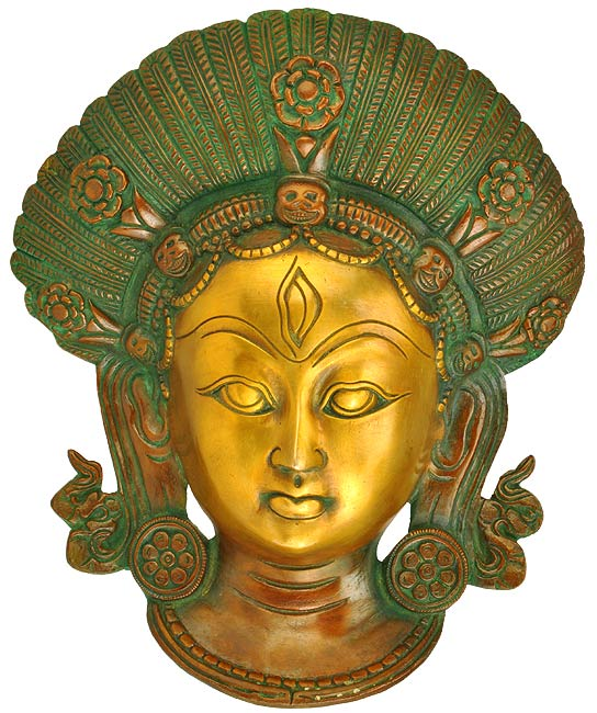 Lord Shiva Mask - Brass Wall Hanging