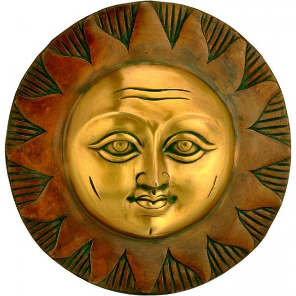 Sun God - Brass Wall Hanging