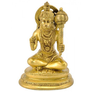 Lord Hanuman in Blessing Mode - Brass Statue