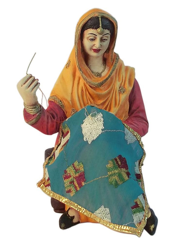 Working Lady Resin Statue