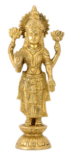 Goddess Lakshmi Standing on Lotus base