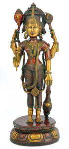 Lord Vishnu Standing Brass Sculpture 4644
