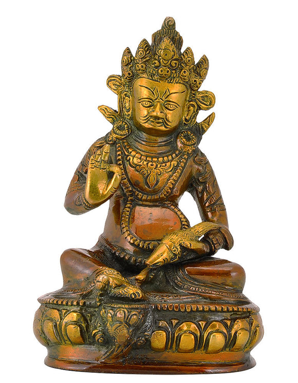 Dhan Kuber Brass Statue