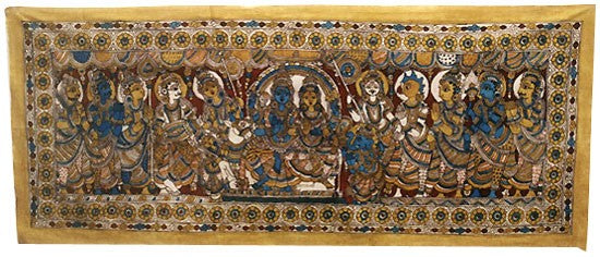 Shiva's Marriage - Cloth Painting