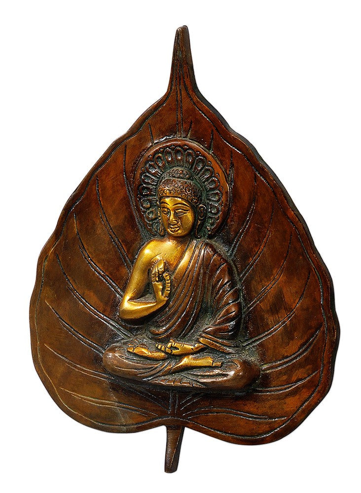 Leaf Design Buddha Wall Hanging