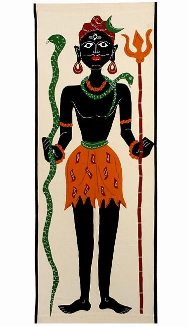 Shiva Mahakal - Applique Work Tapestry