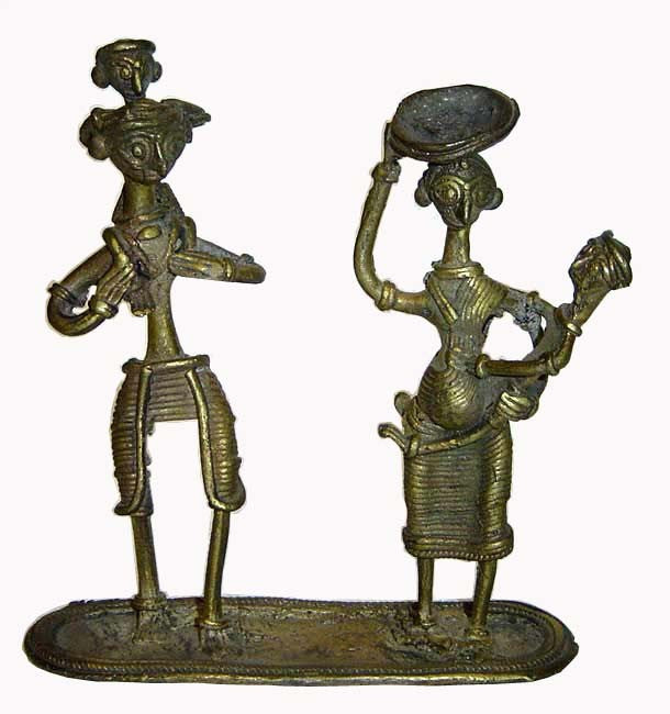 Brass Statuatte-Happy Family