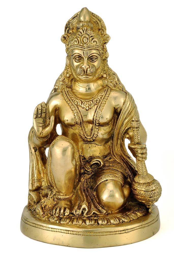Blessing Sitting Pose Sankat Mochan Brass Sculpture