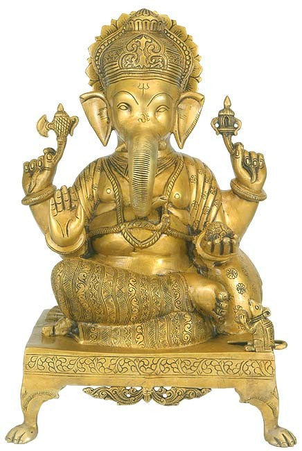 Lord Ganesh - Brass Statue BS0009
