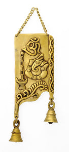 Beautifully Engraved Brass Ganesha Wall Plaque