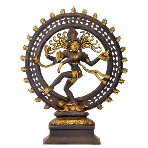 God of Dance Nataraj Shiva - Antiquated Brass Statue
