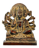 Five Headed Lord Hanuman Brass Figurine