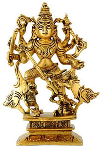 """Durga"" The Powerful Mother Goddess - Brass Statue BS0152"