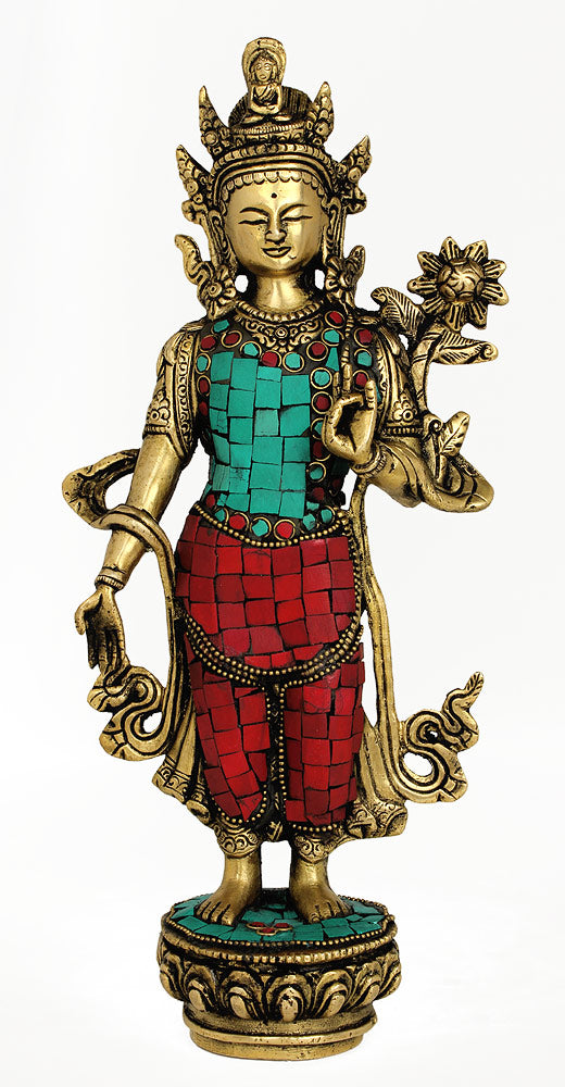 Brass Devi Tara Carved Statue