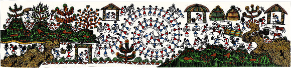 Folk Art Tarpa Dance-Warli Painting